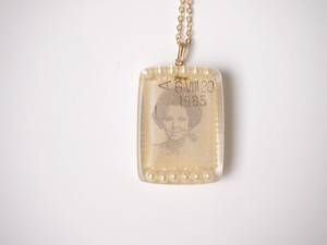 stamp necklace [pail pink]