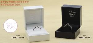 プロポーズ用リングケース 「Will you Marry Me?」メッセージ刻印入りケース 10個入り TBBR-012A