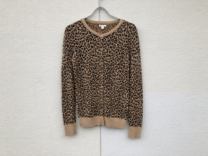 1990s Leopard Cotton Cardigan