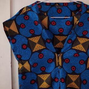 アフリカンプリント 3 WAY ワンピース square combination