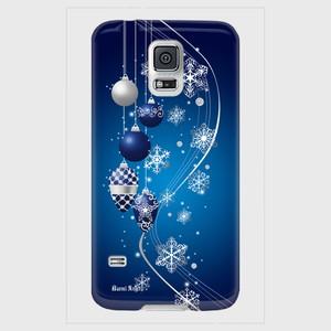 【Galaxyシリーズ】Winter Holiday Royal Blue ウィンター・ホリデー ロイヤルブルー ツヤありハード型スマホケース