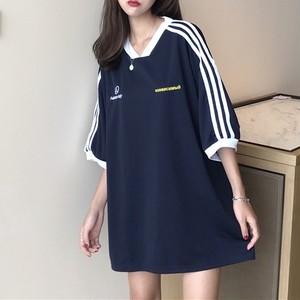 ラインカジュアルTシャツ 9785