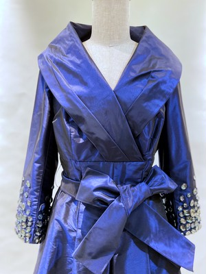 DS-18 鮮やかロイヤルブルーが華やか♪コートドレス