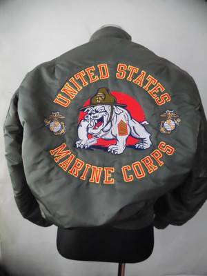 US MA-1 フライト・ジャケット(海兵隊Bulldog Mascot刺繍)