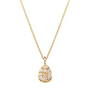 K18YGダイヤモンドネックレス 020201009410