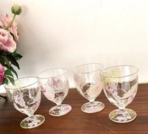 信頼のブドウor愛情のバラワイングラス1個|両親プレゼント・結婚式乾杯記念日グラス・両親贈呈品・結婚祝い
