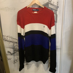 POLO  Ralph Lauren border  cotton knit