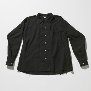 【FILL THE BILL】《MENS》SOUTIEN COLLAR FLARE SHIRT - BLACK