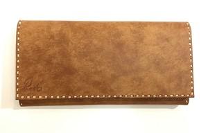haaki Leather Long wallet 小銭入れ無 カラーオーダー