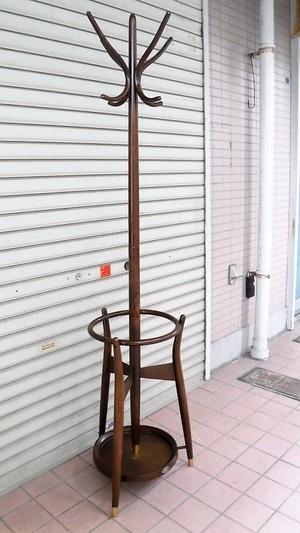 秋田木工 ポールハンガー【濃茶】(0501105YD)