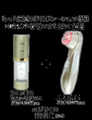 SEDNAS STエッセンス ヒト幹細胞培養液配合 育毛剤 + EIP PURE(ポレーション機器)