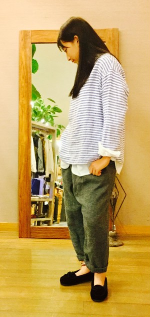 【NATURAL LUNDRY】リネンPバスクSH/7175T-005