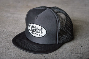 """DUCKTAIL CLOTHING TRUCKER CAP """"TRUCKIN'"""" CHARCOAL ダックテイル クロージング メッシュキャップ"""