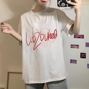 【トップス】落書きプリントゆったり快適なTシャツ