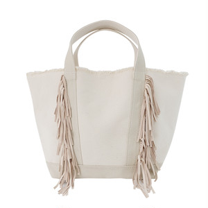 Side Fringe Tote Bag/IVORY