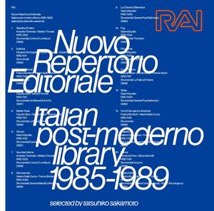 tatsuhiko sakamoto / RAI Nuovo Repertorio Editoriale Italian post-moderno library 1985-1989(MIXCD)