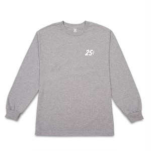 QUARTERSNACKS / SNACKMAN LONGSLEEVE TEE -GREY-