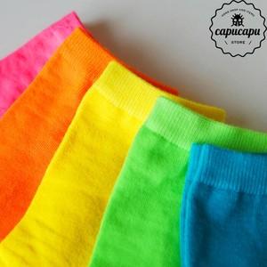 «sold out»«5足セット» summer Neon Socks 5set サマーネオン ソックス 靴下