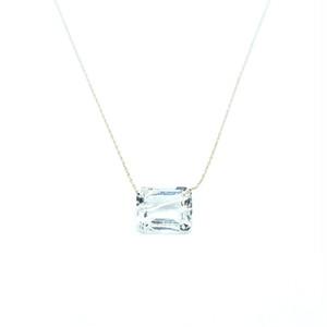Holey stone Necklace White topaz - K18YG