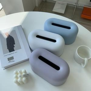pastel minimal tissue case 3colors / パステル ミニマル ティッシュ ケース カバー 韓国 北欧 雑貨