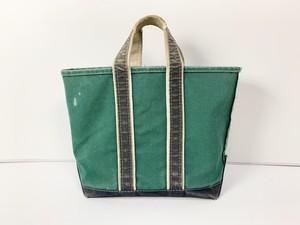 80s LL BEAN エルエルビーン BOAT&TOTE DELUXE デラックス トートバッグ 緑×紺 グリーン×ネイビー