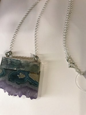 Vintage 925 silver × stone necklace ( ヴィンテージ シルバー × ストーン ネックレス )