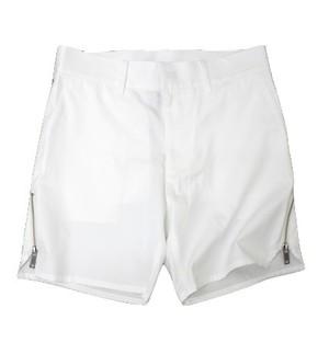 CHRISTIAN DADA-Side Zip Very Short Trouser(WHITE)