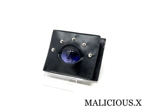 reptiles eye folding wallet / deep blue