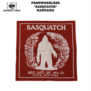 """SASQUATCH"" BANDANA FREEWHEELERS / フリーホイーラーズ GREAT LAKES GMT. MFG. Co Lot 2027005 バンダナ"