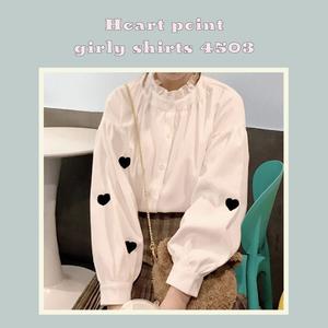 【即納♡】ハートポイントガーリーシャツ 4503