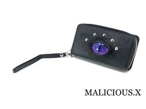 cat eye smartphone & coin case / purple × blue