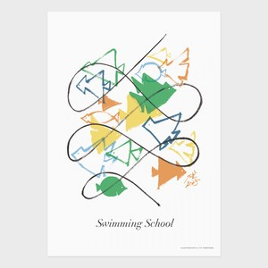 "POSTER ""Swimming School"""