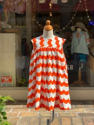 KIDS:melt  ウェーブサマードレス(RED/100〜120cm)