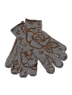 WARM GLOVES gray-brown