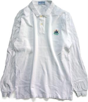 【XL】 90s バーバリー 長袖ポロシャツ