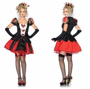 女王様衣装セット (ワンピース、髪飾り、手袋) コスチューム コスプレ ハロウィン クリスマス レディース フリーサイズ hzab216