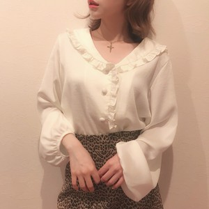 sailor collar frill blouse (A18-1001K)