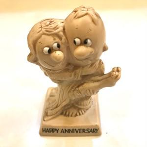 vintageメッセージドール/HAPPY ANNIVERSARY