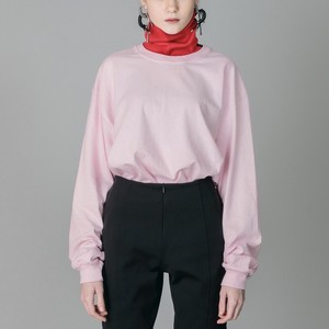 NON TOKYO : HI-NECK LONG T/S(PINK×RED)