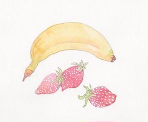 いちごとバナナ  小サイズ(50g)