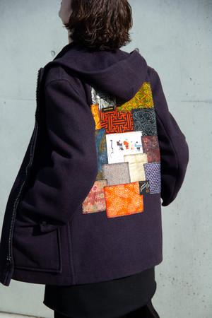 regeneration patchwork Short Duffle Coat