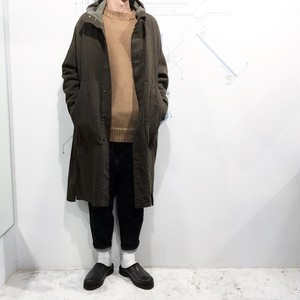 FIRMUM 【フィルマム】 WOOL COTTON MILITARY SERGE Hooded coat