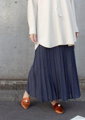 ラメニットアップ スカート/ネイビー No.98625447/90