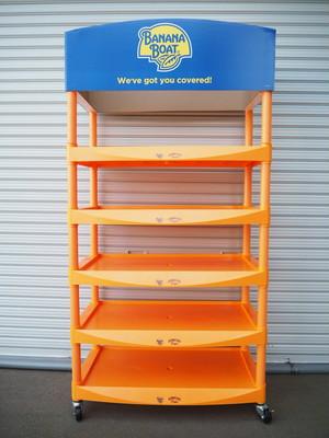 品番0458 展示棚 オレンジ / Display shelf
