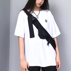 Street style one point logo T-shirts LD0660