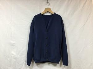 """crepuscule """" Moss stitch cardigan """" Blue"""