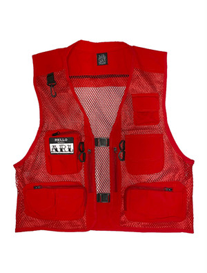 LOGO PACTH POCKETS VEST red