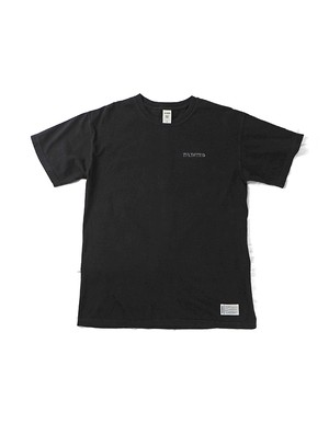 Shaded LOGO Garment Dye Tee / BLACK