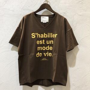 〈値下げ★〉Noble Blanc/VネックロゴTシャツ