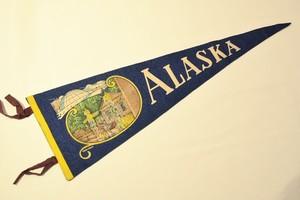 USED Vintage Pennants ALASKA 01027